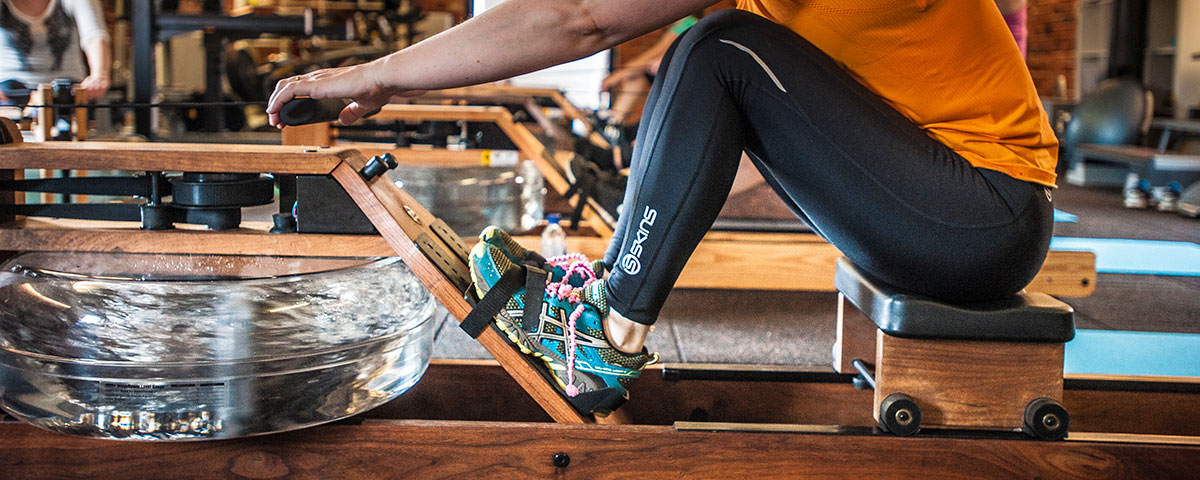 remadora waterrower para gimnasios